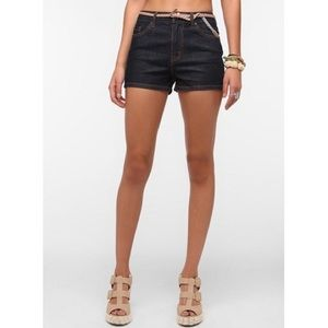 BDG Blue High Rise Erin 5 Pocket Jean Shorts
